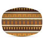 African Masks Plastic Platter - Microwave & Oven Safe Composite Polymer
