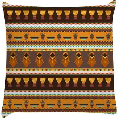 African Masks Decorative Pillow Case