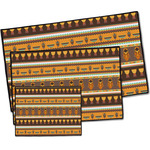 African Masks Door Mat