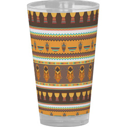 African Masks Drinking / Pint Glass