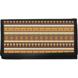 African Masks Canvas Checkbook Cover