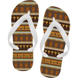 African Masks Flip Flops