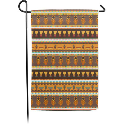 African Masks Single Sided Garden Flag With Pole