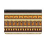 African Masks Genuine Leather ID & Card Wallet - Slim Style