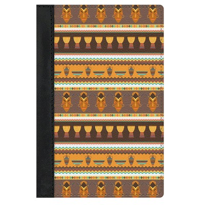 African Masks Genuine Leather Passport Cover
