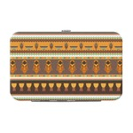 African Masks Genuine Leather Small Framed Wallet