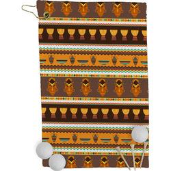 African Masks Golf Towel - Full Print