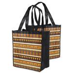 African Masks Grocery Bag