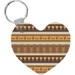 African Masks Heart Keychain