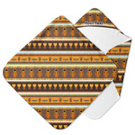 African Masks Hooded Baby Towel