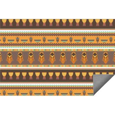 African Masks Indoor / Outdoor Rug - 2'x3'