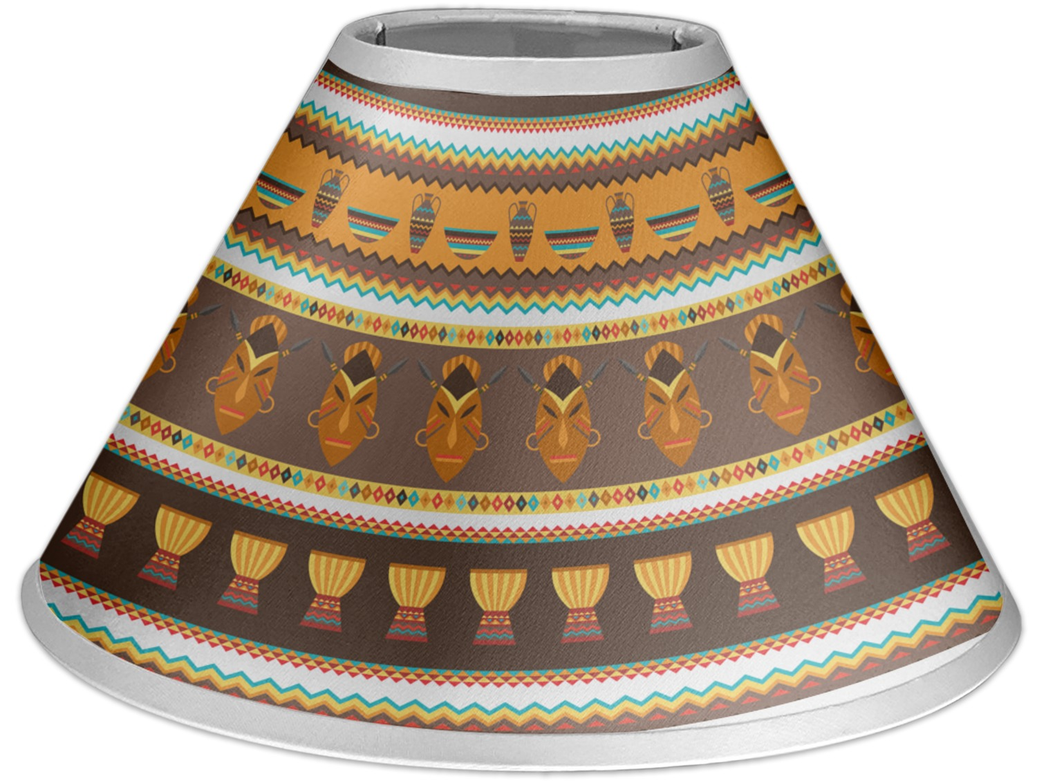 African Masks Coolie Lamp Shade Youcustomizeit