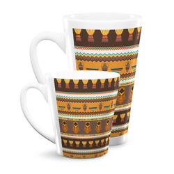 African Masks Latte Mug
