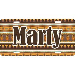 African Masks Front License Plate