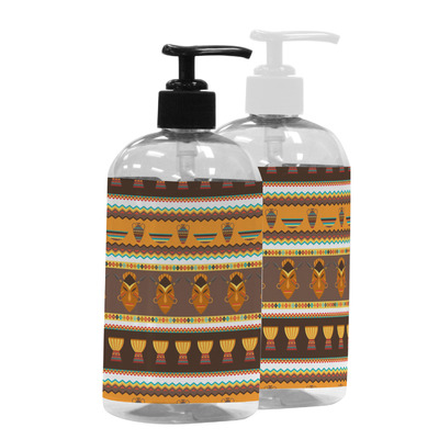 African Masks Plastic Soap / Lotion Dispenser