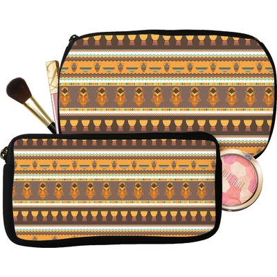 African Masks Makeup / Cosmetic Bag