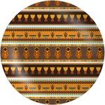 African Masks Melamine Plate