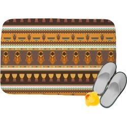 African Masks Memory Foam Bath Mat