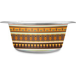 African Masks Stainless Steel Dog Bowl