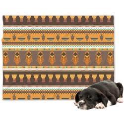 African Masks Minky Dog Blanket
