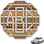 African Masks Monogram Car Decal