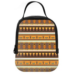 African Masks Neoprene Lunch Tote
