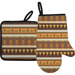 African Masks Oven Mitt & Pot Holder
