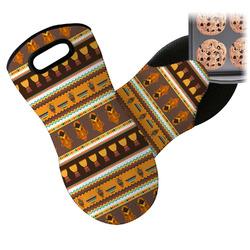 African Masks Neoprene Oven Mitts