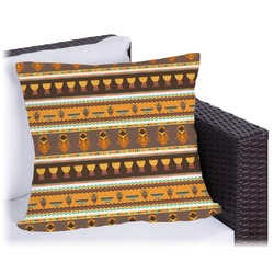African Masks Outdoor Pillow