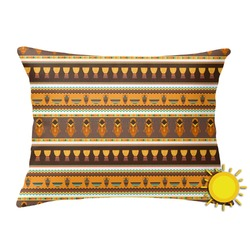 African Masks Outdoor Throw Pillow (Rectangular)