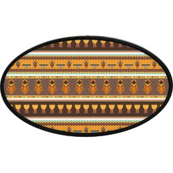 African Masks Oval Trailer Hitch Cover