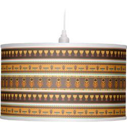 African Masks Drum Pendant Lamp