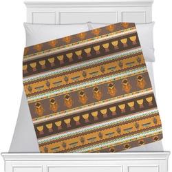 "African Masks Fleece Blanket - Queen / King - 90""x90"" - Double Sided"