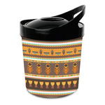 African Masks Plastic Ice Bucket