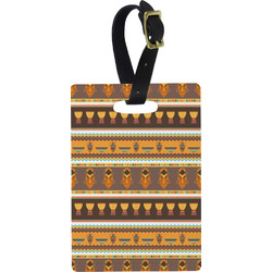 African Masks Rectangular Luggage Tag