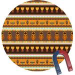 African Masks Round Fridge Magnet