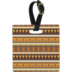 African Masks Square Luggage Tag