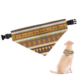 African Masks Dog Bandana - Large