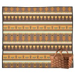 African Masks Outdoor Picnic Blanket