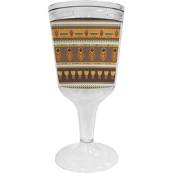 African Masks Wine Tumbler - 11 oz Plastic