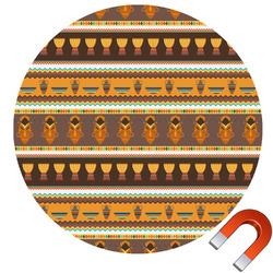African Masks Round Car Magnet