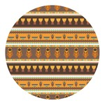 African Masks Round Decal