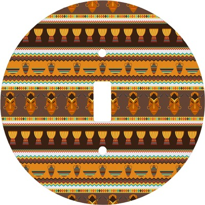 African Masks Round Light Switch Cover