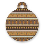 African Masks Round Pet Tag