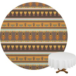 African Masks Round Tablecloth