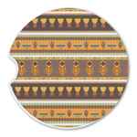 African Masks Sandstone Car Coasters