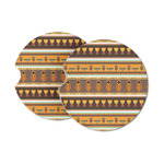 African Masks Sandstone Car Coasters