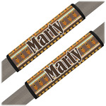 African Masks Seat Belt Covers (Set of 2)