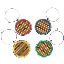 African Masks Wine Charms (Set of 4)