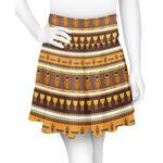 African Masks Skater Skirt